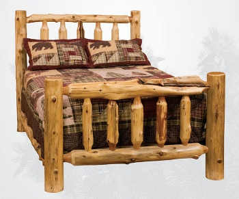 Choose One Of Our Sturdy Rustic Designed Custom Beds Made In Hickory Yellow Birch Cedar Or Red Artisans Can Trim Your Bed Headboard
