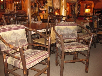 Delicieux Rustic Hickory Occasional Chairs