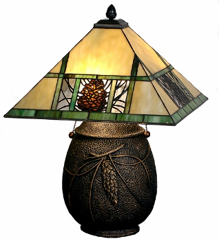 our beautiful genuine stained glass lamp shades are brilliantly colored with detailed north country designs in loons wood ducks fly fisherman