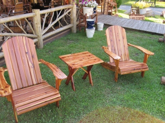 Eastern Red Cedar Adirondack Chairs