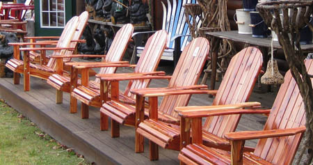 Eastern Red Cedar Adirondack Chairs & Outdoor Furniture | Owls Head Rustics